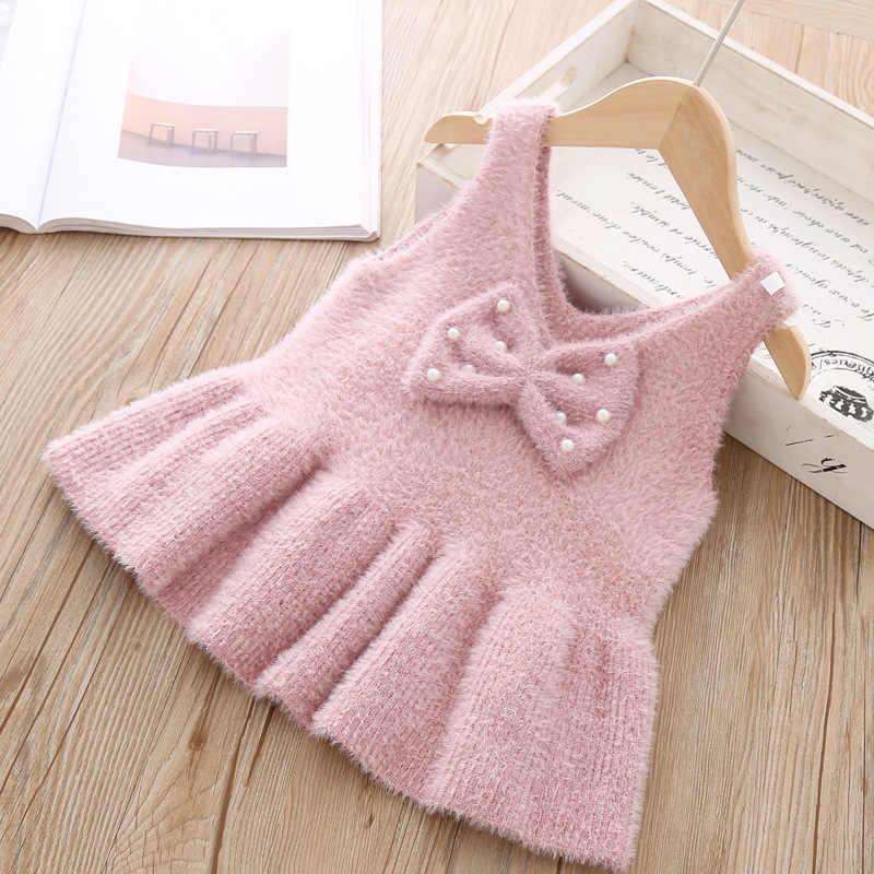 طفل الفتيات اللباس سترة صدرية سترة لفتاة لطيف محبوك ارتداء ملابس الأطفال الاطفال الرضع تريكو ملابس خارجية عالية الجودة