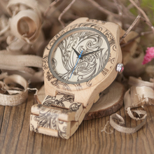 BOBO BIRD Men wooden watches Unique Design Vintage Quartz Analog Wristwatch Custom logo as Gift