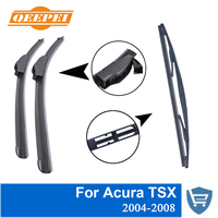 QEEPEI Front and Rear Wiper Blade no Arm For Acura TSX 2004 2008 High quality Natural Rubber windscreen 26''+16''