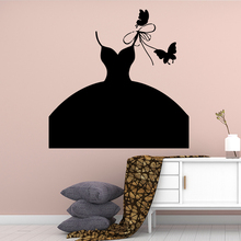 Cute Fashion boutique Vinyl Kitchen Wall Stickers Wallpaper Nursery Kids Room Decor Decoration Murals