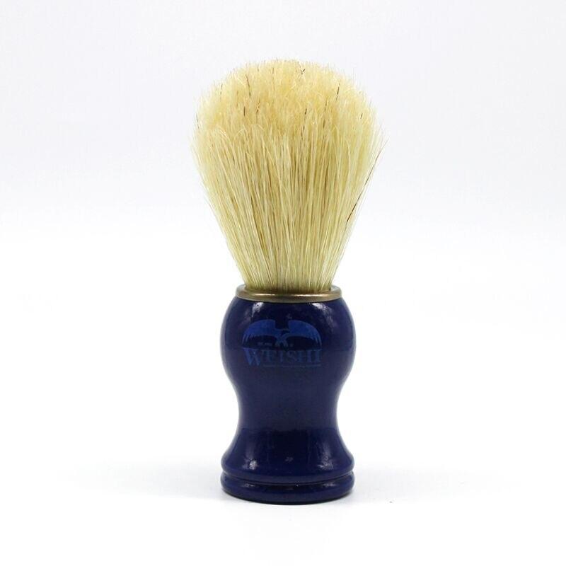 Brocha de afeitar Mango Azul Cepillo de Cerdas de Jabalí Brocha de afeitar hombre Afeitado Barba Cara Men Shaving Aparato de Limpieza Herramientas