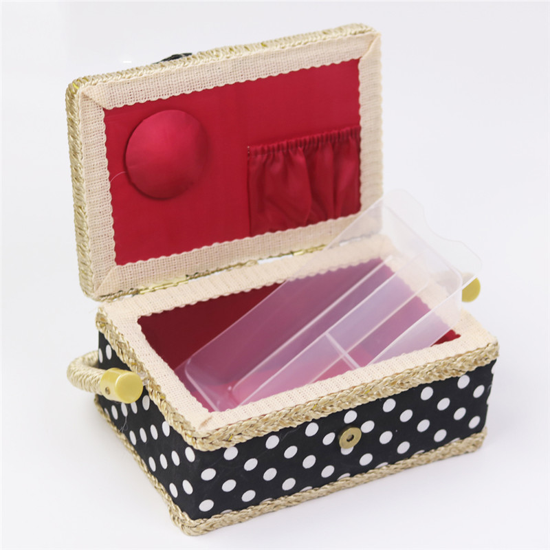 Handmade Cotton Fabric Storage Sewing Basket Sewing Thread Scissors Tools Accessory Craft Tools Storage Box For Women Wife Gift  (6)