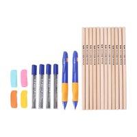 עפרונות עפרונות מכאניים M & G ועץ כולל אוחז לתלמידים ללמוד כתיבה HAMP0873