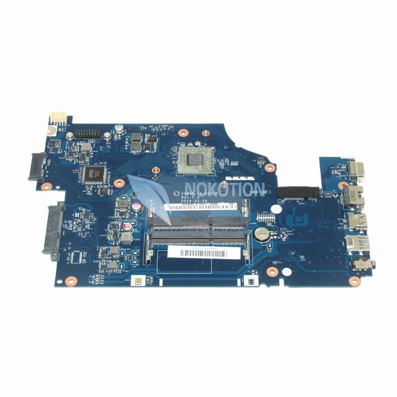 NOKOTION NBMLF11005 NB.MLF11.005 Laptop motherboard For acer aspire E5-521 Z5WAE LA-B232P Mainboard Works nbmlg11005 nb mlg11 005 for acer aspire e5 521 e5 521g laptop motherboard z5wae la b231p cpu onboard with discrete graphics