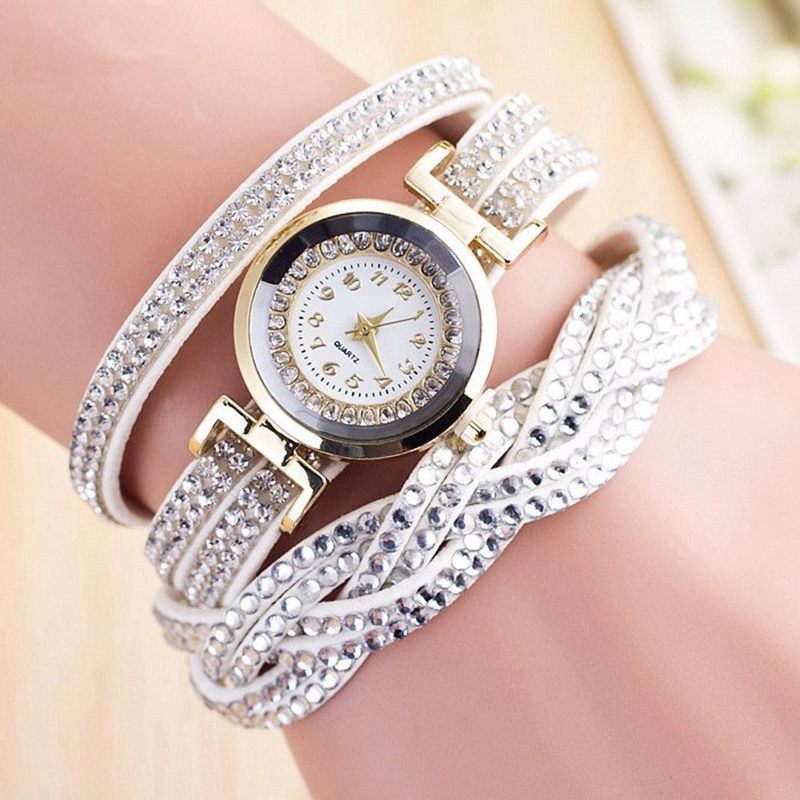 2017 Quartz Watch for Girl Gifts Simple Design Female Watch Fashion Watches Diamond Bracelet Student Watches for Teenagers NJ003 diamond stylish watches for girls
