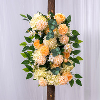 Flone 50cm wedding flower wall row photography display supply silk peonies rose artificial flower row decor wedding iron arch