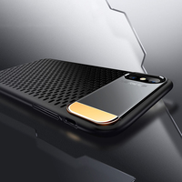 Honeycomb Breathable Heat Dissipation Phone Cases For Iphone X Cover Luxury Slim Shockproof Armor Case With