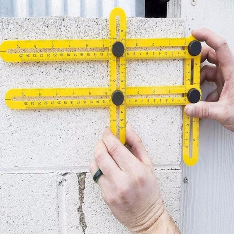 All Angles Multi-Angle Ruler Template Tool Measures All Angles Forms for Measurement Outdoor Tools Flexible Easy Tool