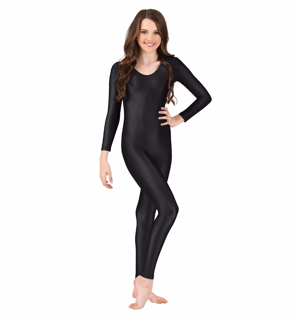 Black spandex dance unitard gymnastics and dancewear - Online Shop Womens Black Long Sleeve Dance Unitard Dancewear Nylon Lycra Gymnastics Unitard Spandex Full Bodysuits Scoop Neck Catsuits Aliexpress Mobile