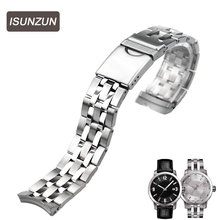 ISUNZUN is suitable for Tissot  T055 watch strap PRC200T055.417 for steel T055.410 stainless steel watch chain все цены