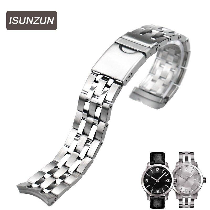 ISUNZUN bracelet de montre de qualité supérieure pour Tissot T055 bracelets de montre en acier inoxydable pour PRC200 T055.417 T055.410 T055.430 bracelet de montre