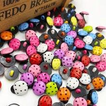 50/100 peças novas! Joaninha botões de plástico noções de costura acessórios diy artesanato pt39