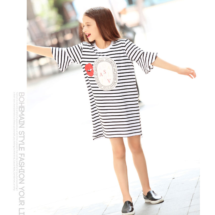7b4617d75ba24 2016 Yaz Dantel Yelek Kız Elbise Bebek Kız Prenses Elbise 4-14 Yıl Chlidren  Elbise Çocuk Parti Giyim Için kızlar Ücretsiz Kemer