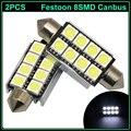 2 pcs 41mm 42mm C5W C10W canbus nenhum erro Festoon 8 SMD led 5050 Car Auto Interior Dome Mapa Luzes de Leitura Da Placa de Licença lâmpada