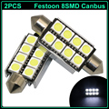 2pcs 41mm 42mm C5W C10W canbus no error Festoon 8 SMD led 5050 Car Licence Plate  Auto Interior Dome Map Reading Lights  lamp