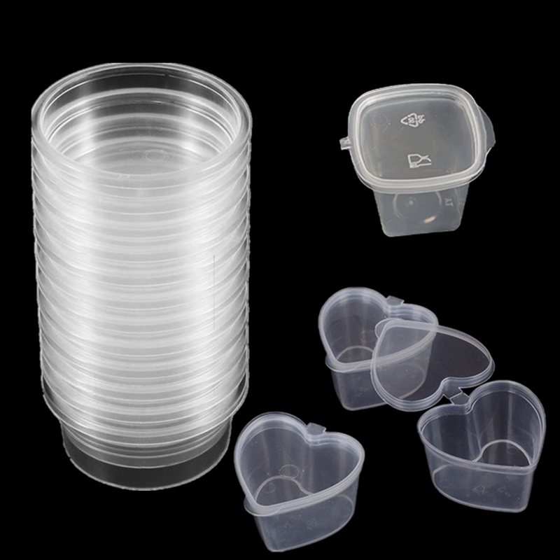 2019 New Plastic Color Plasticine Clear Containers DIY Clay Printing Craft Storage Containers Organizer Box With Lids Slime