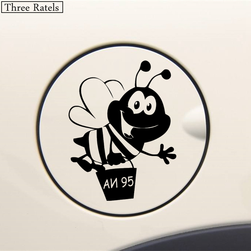 Image 2 - Three Ratels TZ 508 12.9*10cm 1 5 pieces  Bee AI 95 Sticker on the tank car sticker and decals funny stickers-in Car Stickers from Automobiles & Motorcycles