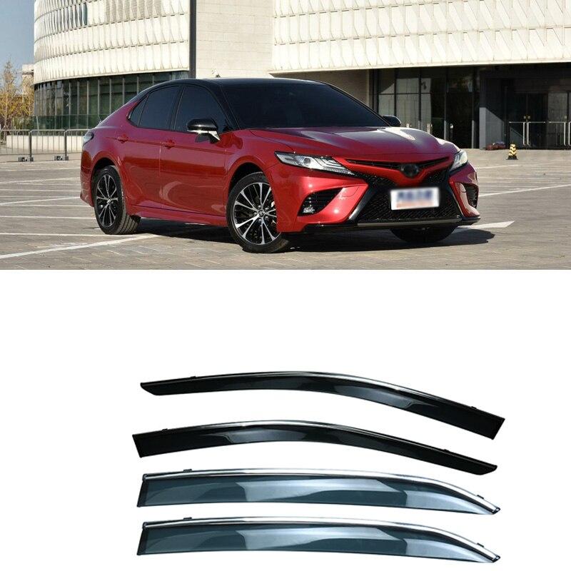 Jinke 4pcs Blade Side Windows Deflectors Door Sun Visor Shield For Toyota Camry 2018