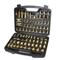 Herramientas de reparación de aire acondicionado de cobre puro versión americana de aire acondicionado automotriz herramienta de detección de fugas Kit de herramientas de metal