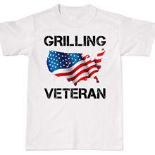 70ca53950 2018 Summer Fashion Hot Sale Men T Shirt Grilling Veteran Funny USA Flag  BBQ Dad Grill