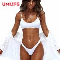 UMLIFE Sexy Micro Bikini 2017 Sport Bikini Set Women Swimwear High Waist Swimsuit Biquini Brazilian Thong