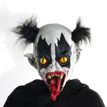 Halloween Horrific Demon Adult Scary Clown Cosplay Props Devil Flame Zombie Mask