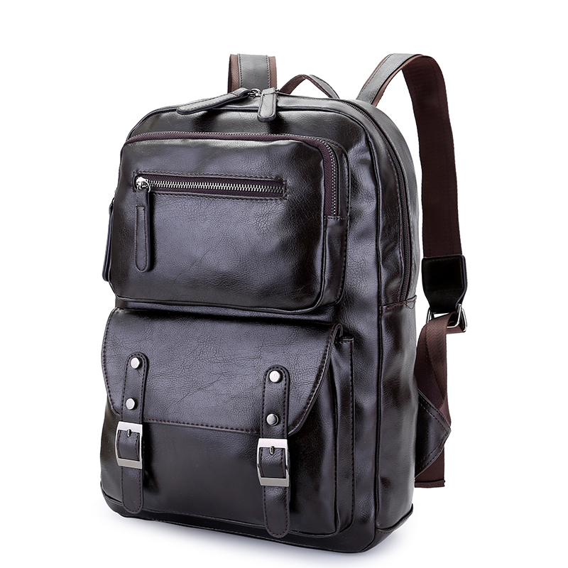 Fashion Backpack Men High Quality Pu Leather Waterproof Laptop Travel Backpack College School Casual Bag For Teenagers 2018 uiyi brand new men backpack black waterproof backpack fashion pu leather travel bag casual school bag for teenagers 2018