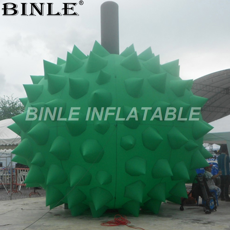 Free air shipping green giant inflatable durian inflatable fruit replica inflatable jackfruit for outdoor advertising