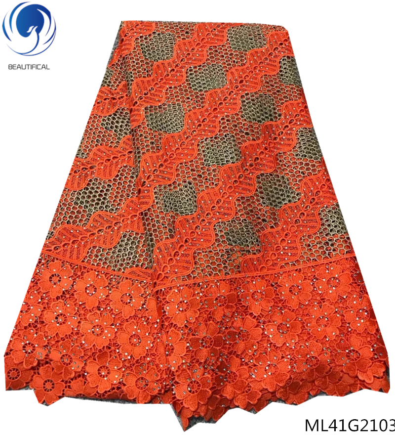 BEAUTIFICAL african guipure fabric nigerian lace styles guipure lace fabrics 2019 latest arrival 5 yards/lot quality ML41G21BEAUTIFICAL african guipure fabric nigerian lace styles guipure lace fabrics 2019 latest arrival 5 yards/lot quality ML41G21