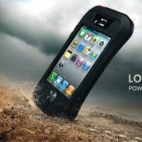 For Apple IPhone 4 4S Original Case Dirt Waterproof Love Mei Metal Aluminum Powerful Phone Cases