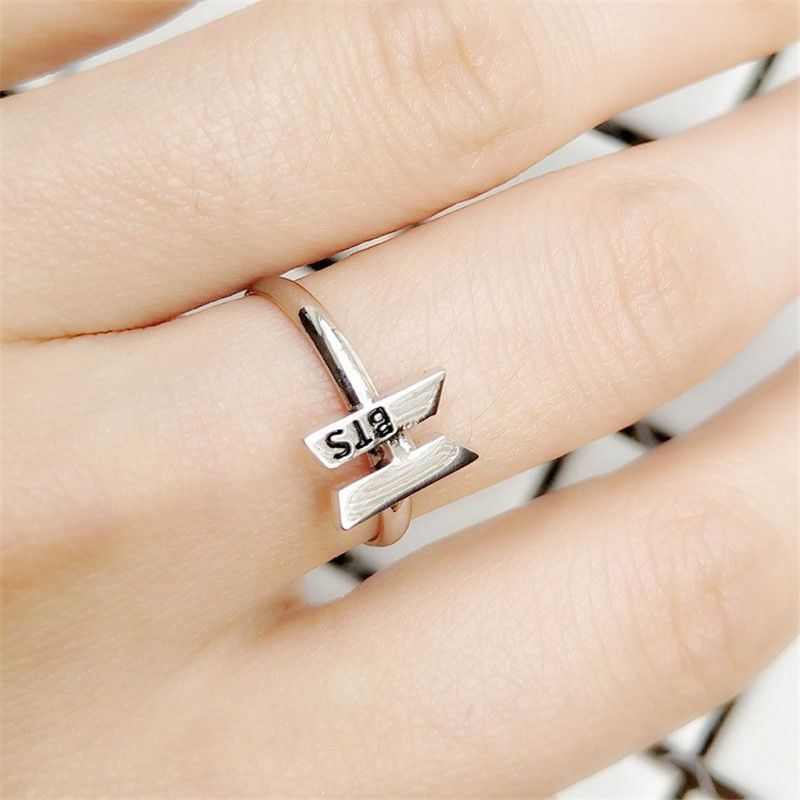 Kpop BTS Got7 Wanna One Twice Bangtan Boys Fashion Finger Ring Adjustable Rings Jewelry New