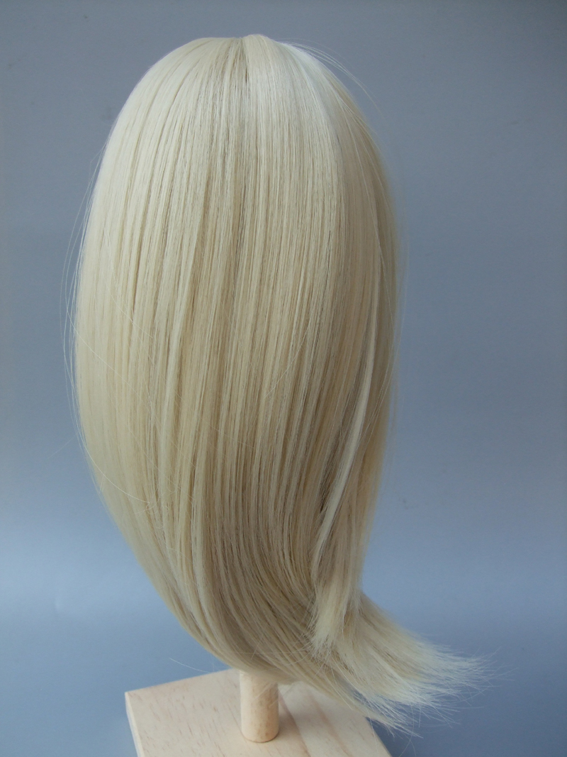 Natural Color Soft Straight Synthetic Hair Wig for 1/3 1/4 1/6 BJD doll for Russian handmade doll wigs