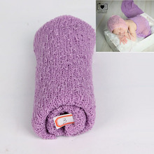 35*150cm Baby Photography Props Blanket Rayon Wraps Stretch Knit Wrap Newborn Photo Wraps Hammock Swaddlings Padding Nubble Wrap