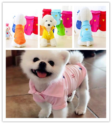New Cute Dog Baby Cartoon Style Pet Summer T-shirt Vest Puppy Clothes Spring Small