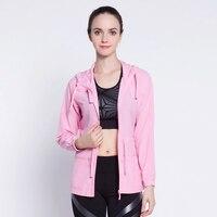 Women Sport Zipper Jackets Hooded Sunscreen Running Athletic Coat Quick Dry Long Sleeved Gym Sweatshirt Fitness