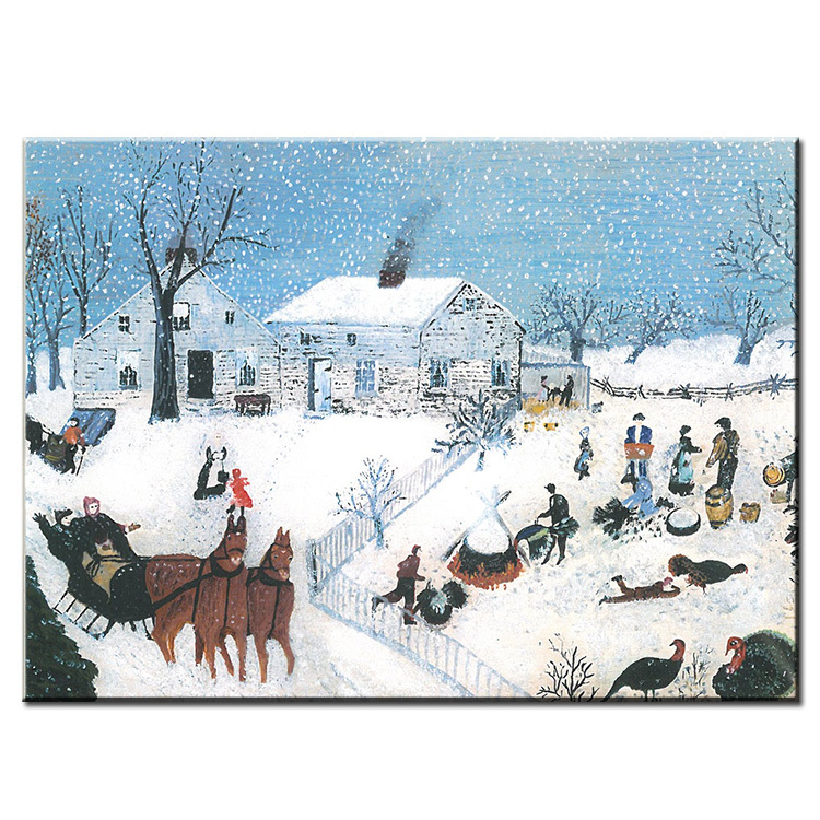 DP ARTISAN Winter NO2 Anna Mary Robertson Grandma Moses Wall painting print canvas home decor oil painting No framed