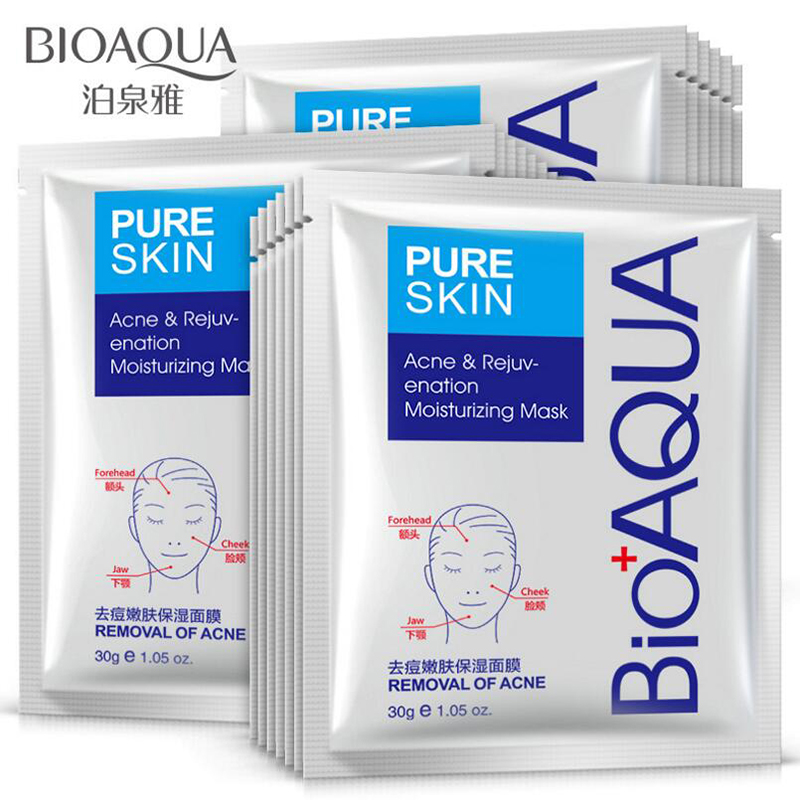BIOAQUA Skin Care Women Remove Acne Moisturizing Face Masks Oil Control Natural Essence Whitening Mask image