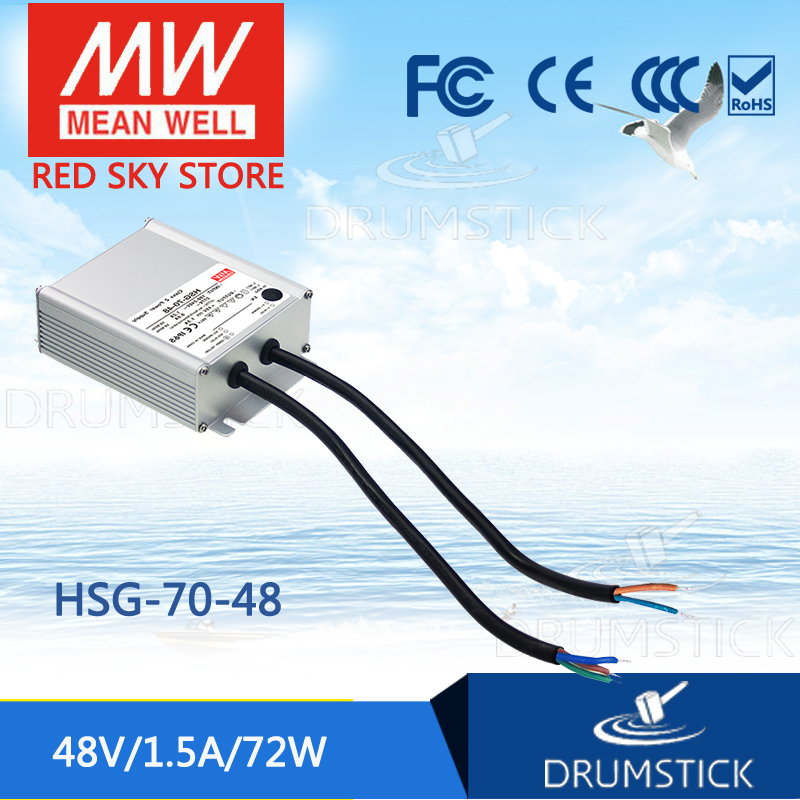 Advantages MEAN WELL HSG-70-48 48V 1.5A meanwell HSG-70 48V 72W Single Output LED Driver Power Supply тостер scarlett sc tm11010 750вт красный