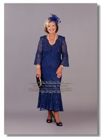 Royal Blue Lace Mother Of the bride Dresses 2017 New Arrival