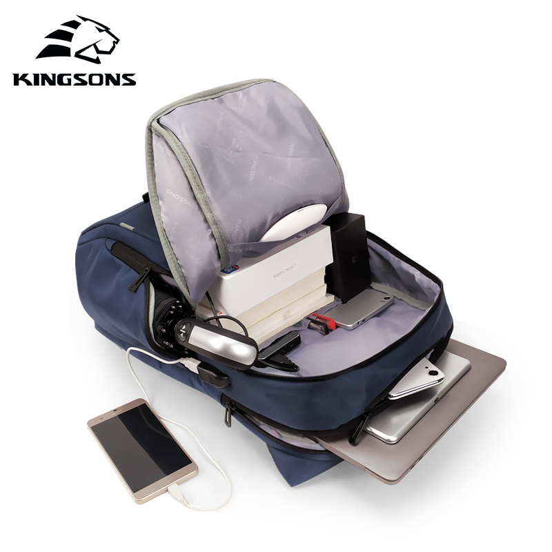 Freizeit Kingsons 2019 Frauen Reise Zoll Blue Model 15inch Kapazität Rucksack Business Große Neue 15 a Männer Student Laptop Mode zz7rqwpx