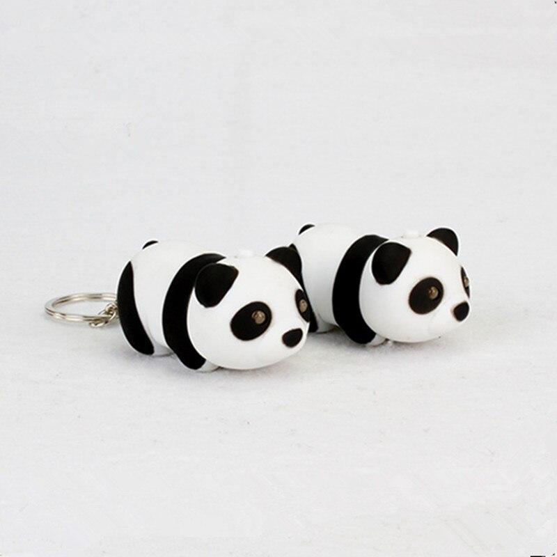 Cute Panda <font><b>Key</b></font> <font><b>Chain</b></font> <font><b>with</b></font> LED <font><b>Light</b></font> <font><b>Sound</b></font> Lovely <font><b>Key</b></font> Ring Trinket <font><b>Pendant</b></font> Ornament Decoration Children Gifts Mascot bag keychain