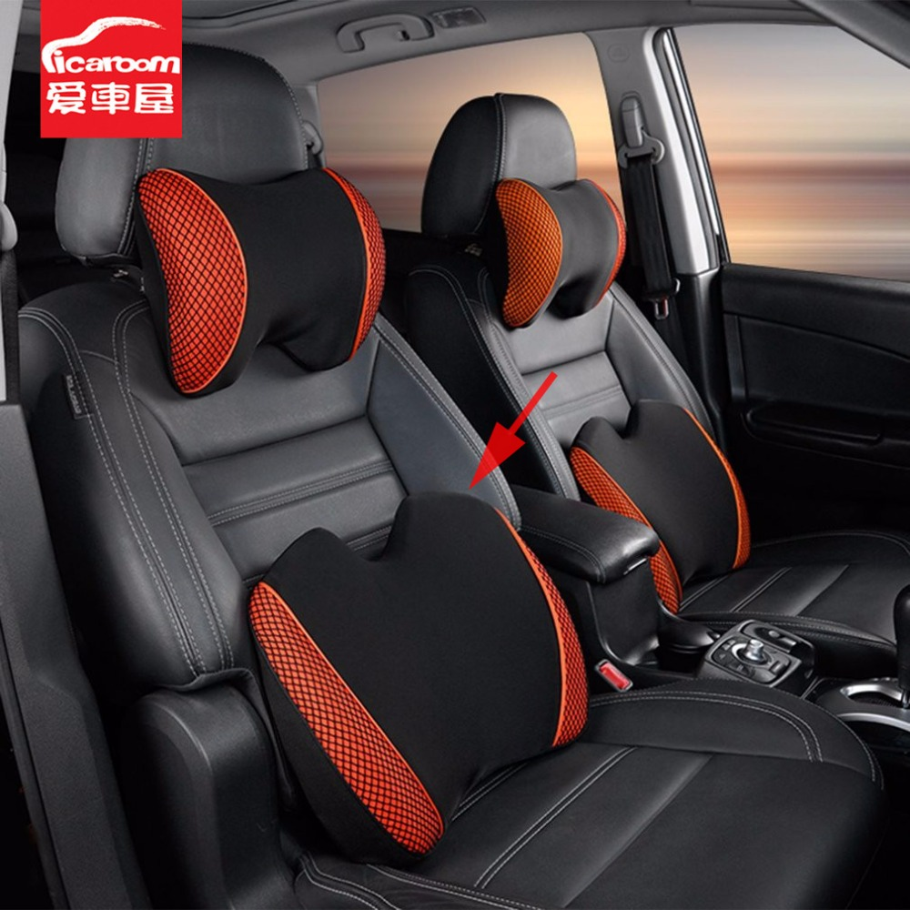 Icaroom Car Seat Back Support Memory Foam 3d Office Home