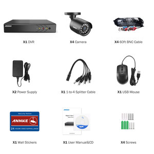 Image 5 - ANNKE 1080P Lite 4CH/8CH 5in1 H.264+ DVR Security Surveillance Video CCTV System 4X Smart IR Bullet Outdoor Waterproof Cameras
