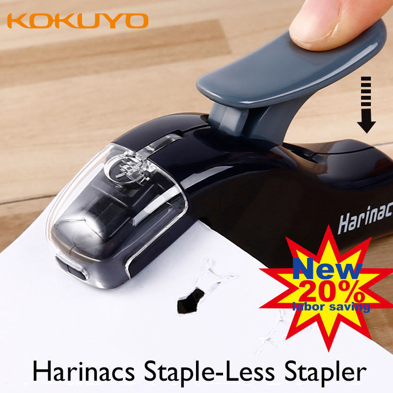 Japan Kokuyo Harinacs New Mini Staple-Less Stapler Safe Labor-Saving Student and Office Creative Stationery вертикально сверлильный станок jet jdp 10 10000350m