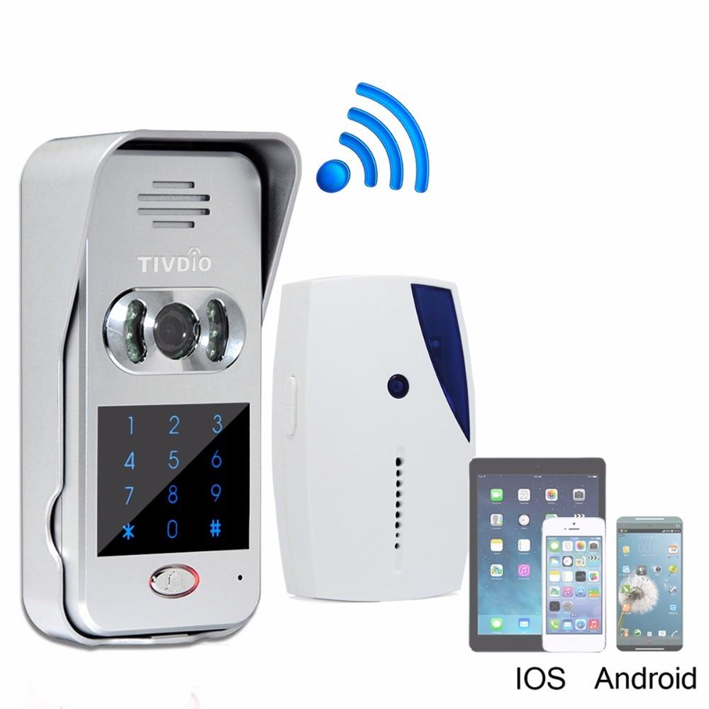 Smart Home Doorbell Wi-Fi Enabled Video Doorbell Video Door Phone Wireless Intercom IR Vision Night F9502D ennio wi fi wireless video door phone doorbell intercom