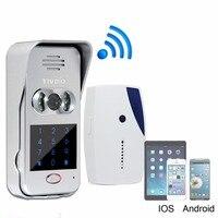 TIVDIO T-10D Akıllı Ev Kapı Zili Wi-Fi Özellikli Video Kapı Zili Görüntülü Kapı Telefonu Kablosuz Interkom IR Görüş Gece F9502D