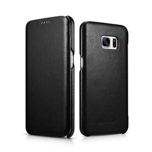 Image 4 - Étui en cuir véritable de luxe ICARER dorigine pour Samsung Galaxy S7/ S7 Edge Ultra mince housse de protection pour téléphone portable accessoires
