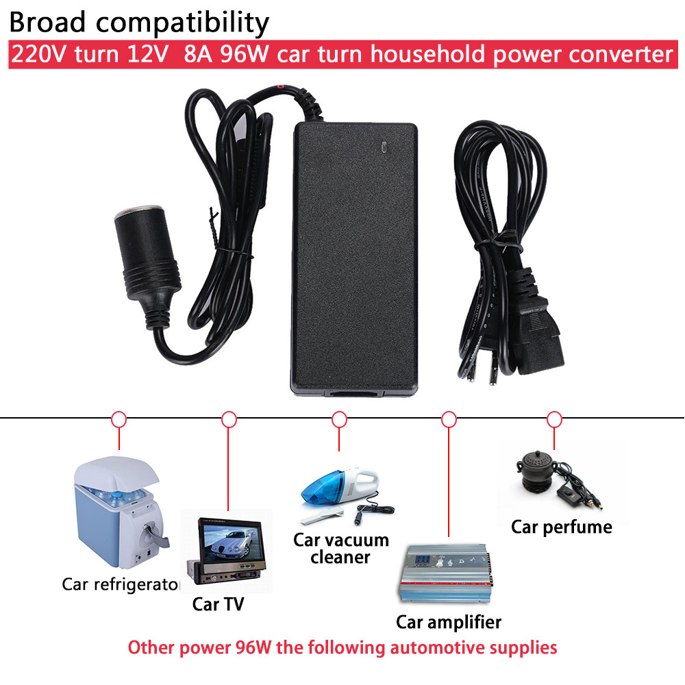 Vehemo автомобильного прикуривателя AC 220 В к DC12V разъем адаптера дома прочный Питание автомобильный адаптер конвертер
