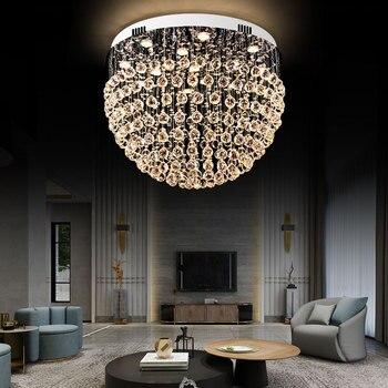 2019 فاخر LED الحديثة رونق كريستال أضواء الثريا لاعبا اساسيا ل بهو غرفة نوم فندق قاعة سطح شنت GU10 السقف مصباح