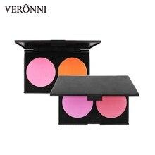 2 color Baked Blush palette Makeup Cosmetic Natural Baked matte Blusher Powder Palette Charming Cheek Color Face peach Make Up цены